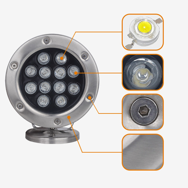 Rgb Color Waterproof Ip68 24vdc Led Underwater Light Ip68
