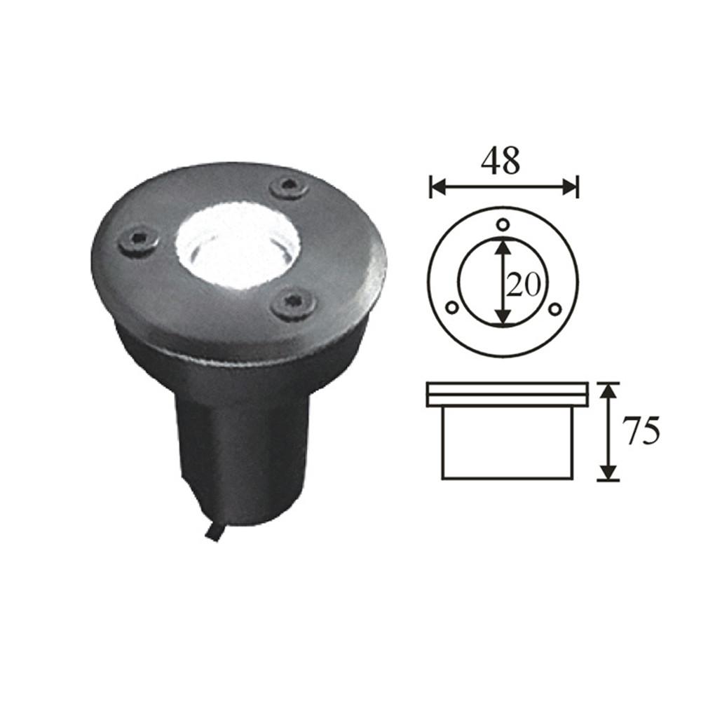 1W Small Led Underground Lamp